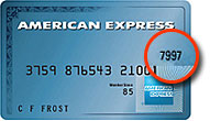 American Express CVV location
