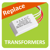 Replace halogen transformers