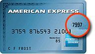 American Express CVV location